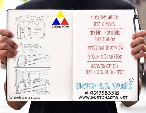 BFA entrance exam coaching classes institute for DCA, sketching classes, art classes, delhi